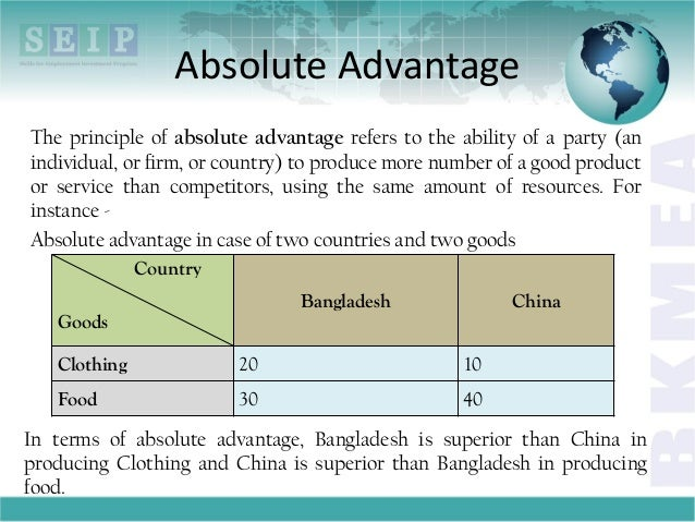 comparative advantage and openness to trade Theoretical part topics: 1 introduction to international trade 2 trade barrier & imperfect competition 3 trade body, trade law and product introduction 4 w.