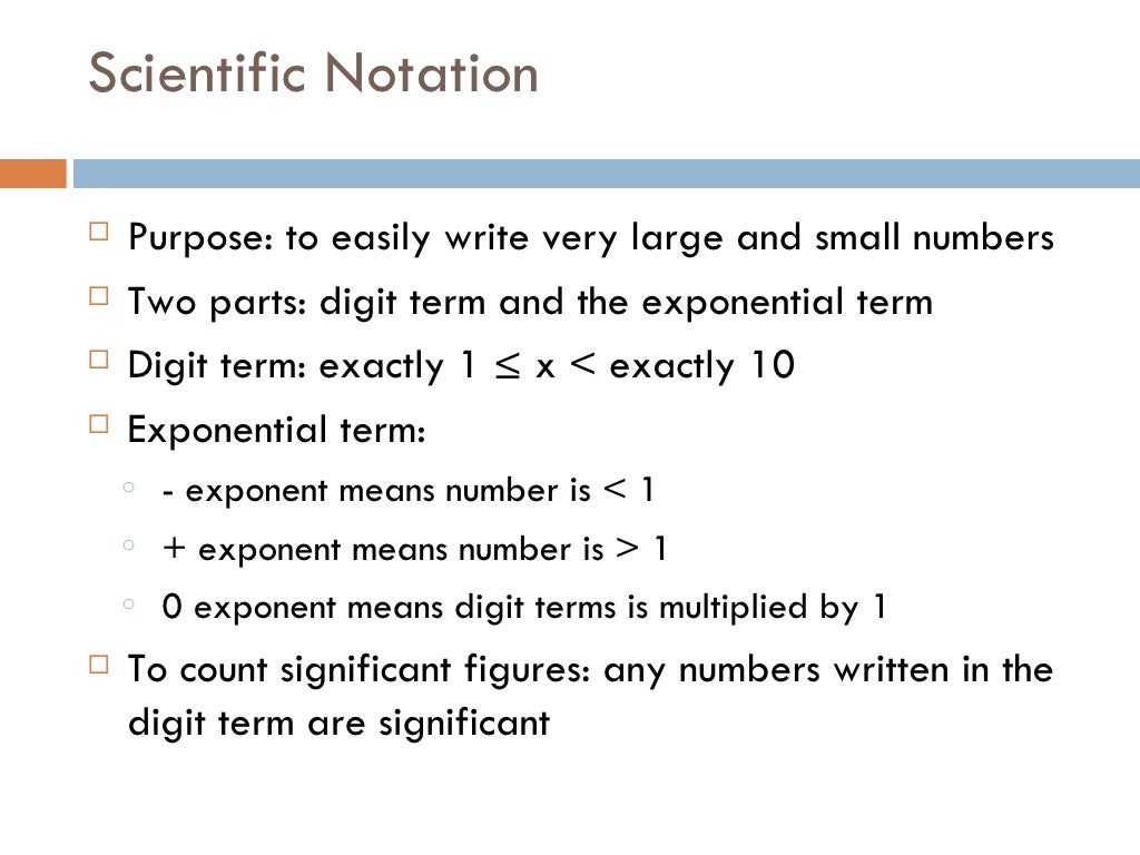 Lecture 1 Significant Figures Scientific Notation Significant Fig