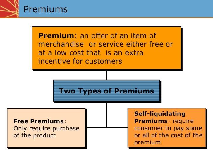 Non self liquidating premium