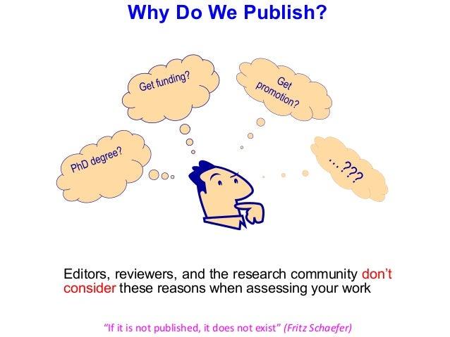 purpose of publication