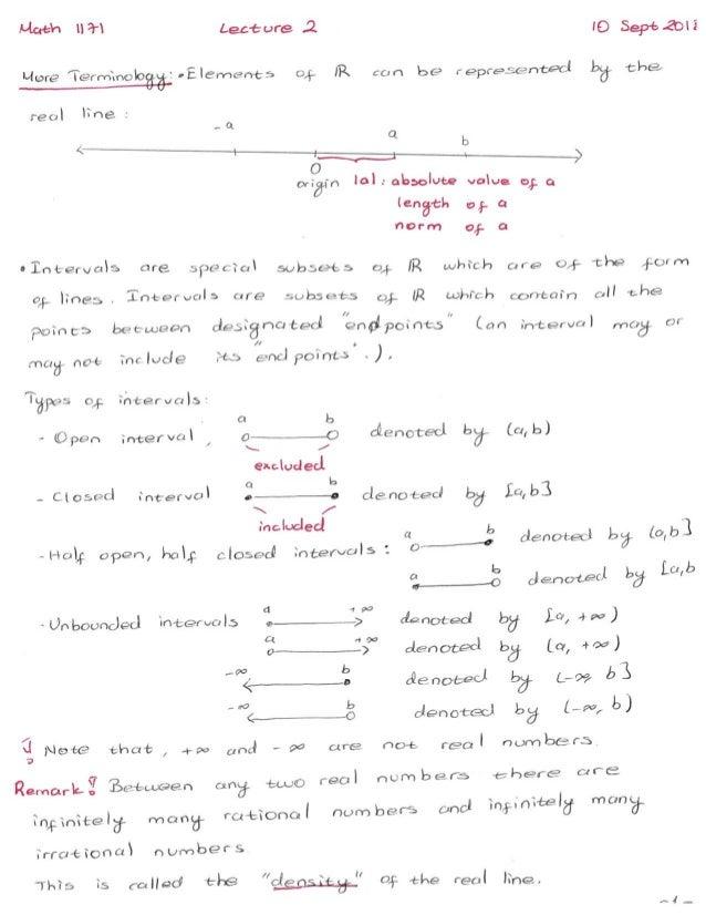 Calculus I-Lecture 2