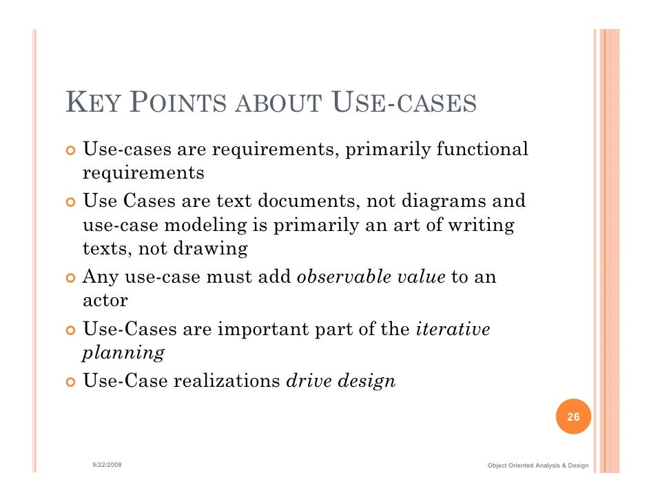 writing effective use cases This lesson contains everything you will need to know to write an outstanding use case scenario that will make your next software implementation go.