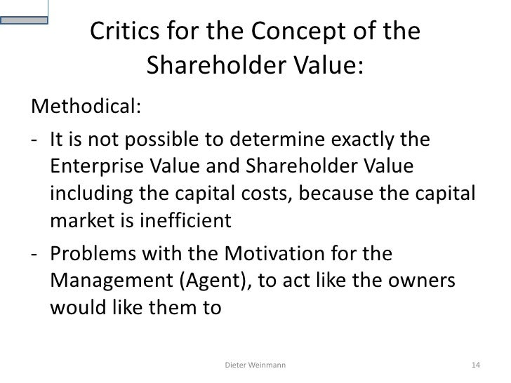 shareholder value management Summary, forum, expert tips, powerpoints, videos ensuring that corporations are managed consistently on (maximizing) shareholder value.