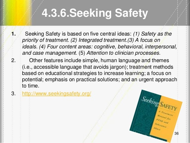 Printables Seeking Safety Worksheets lecture 5 phase 2 and 3 working with complex trauma 35 36 4 6 seeking safety