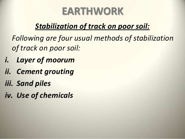 Earthwork track formation railway engineering for What do you mean by soil