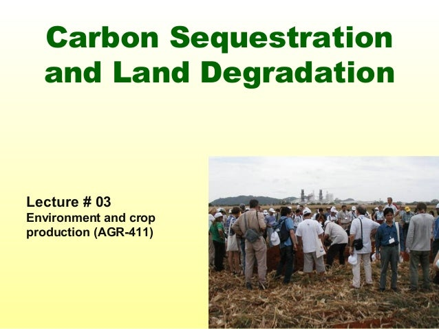 Carbon Sequestration and Land Degradation Lecture # 03 Environment and crop production (AGR-411)
