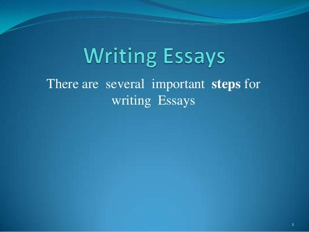 There are several important steps for writing Essays  1
