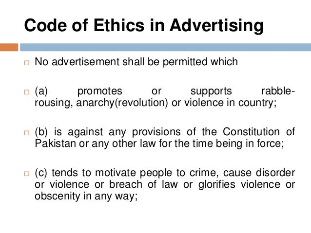 The ethics of advertising do advertisers