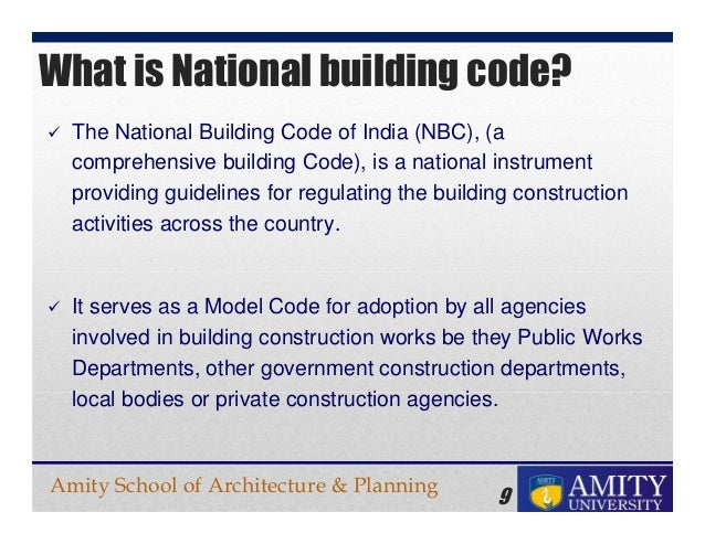 National Builiding Codes