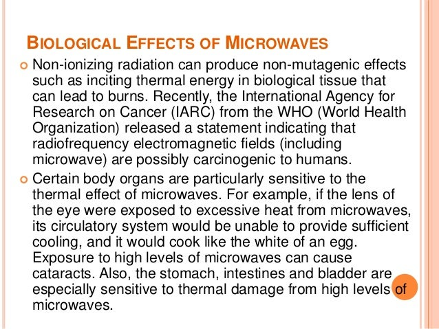 Effects of microwave on food and