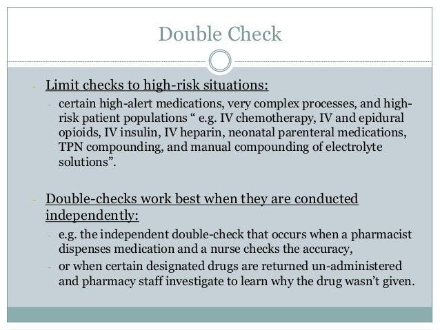 Medication Preparations - Pharmacy