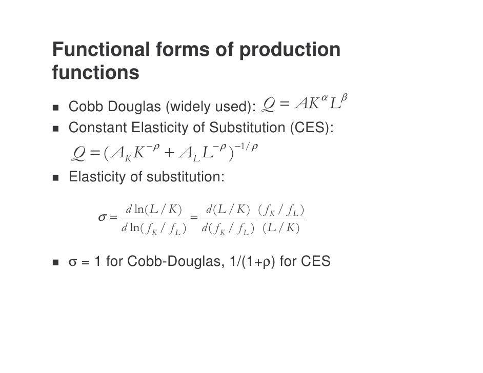 elasticity of substitution formula
