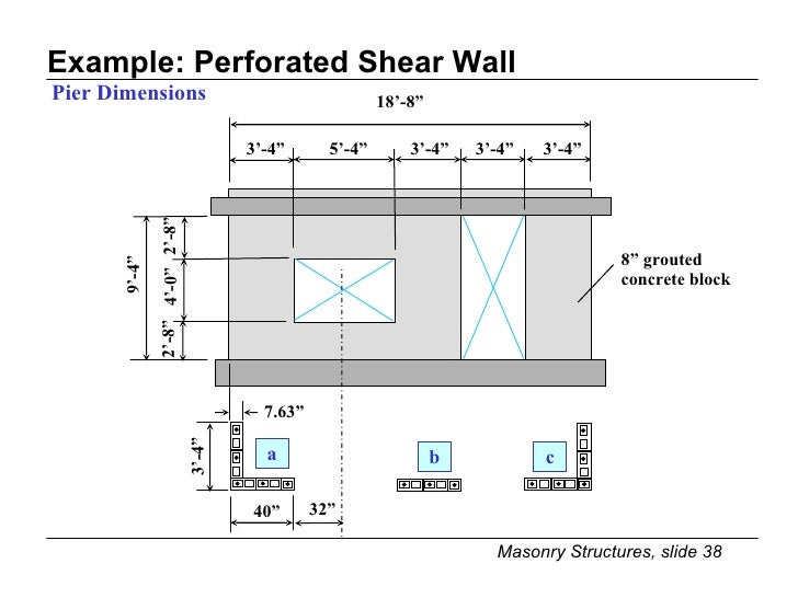 Shear Wall Design Xls : Best concrete shear wall design example home and