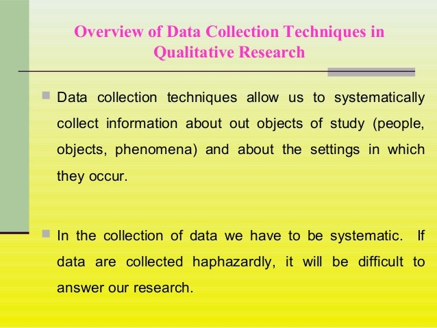 Data collection research paper