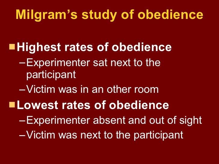 milgram behavioural study of obedience essay