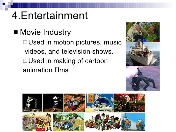 The Use of Computers in Entertainment