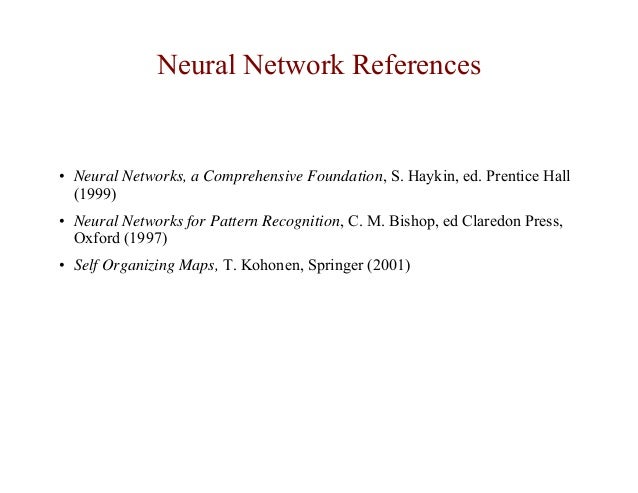 Lecture artificial neural networks and pattern recognition