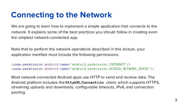 Communication in android