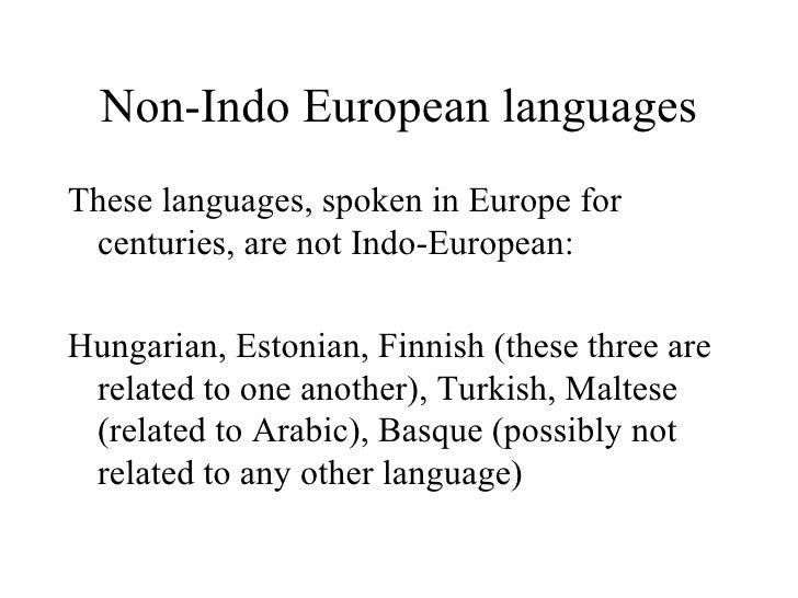 Indo-European - Essay Example