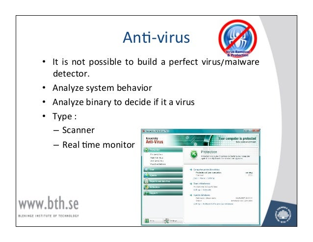 malicious software lecture notes Note many anti-malware software products give options for enabling or  disabling the shield function, also called real-time scanning, for different types of .