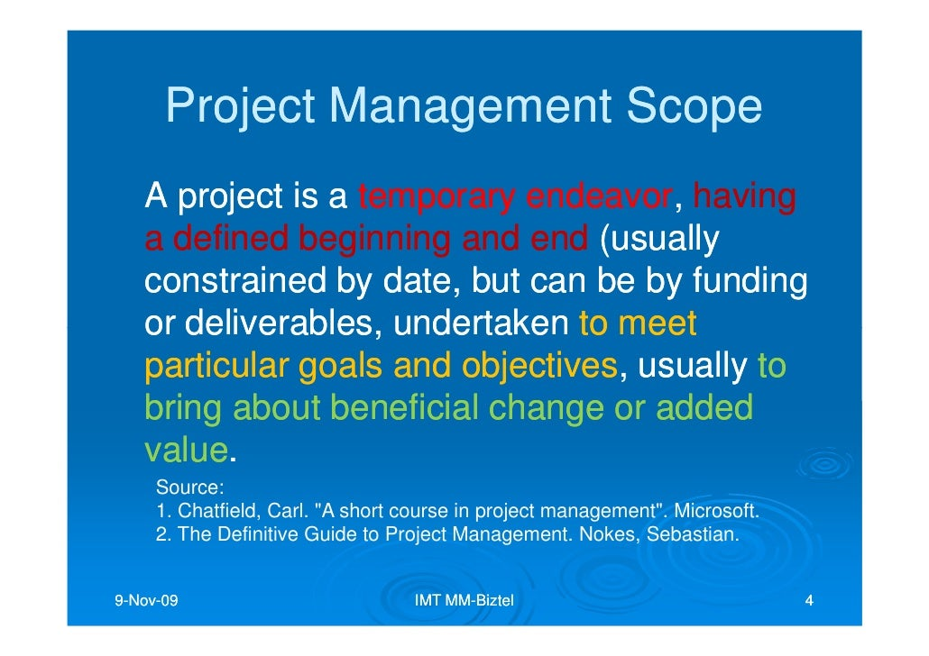 project management at mm On every project there is bound to be problems, hang-ups and issues to be  resolved the mm management team is a direct link between you and qualified.