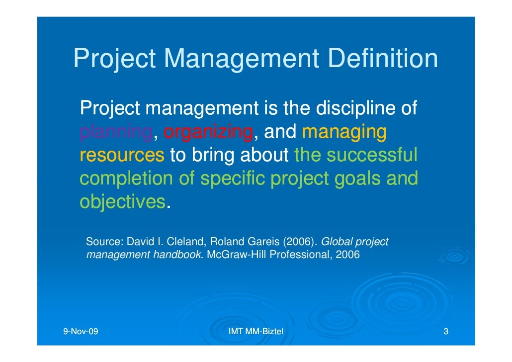 global project management handbook