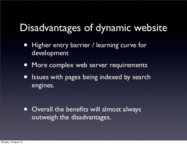 what is dynamic website pdf