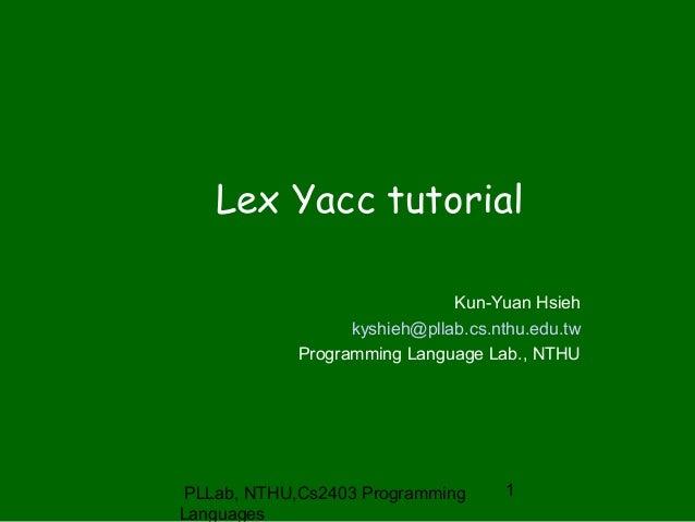 Lex - A Lexical Analyzer Generator