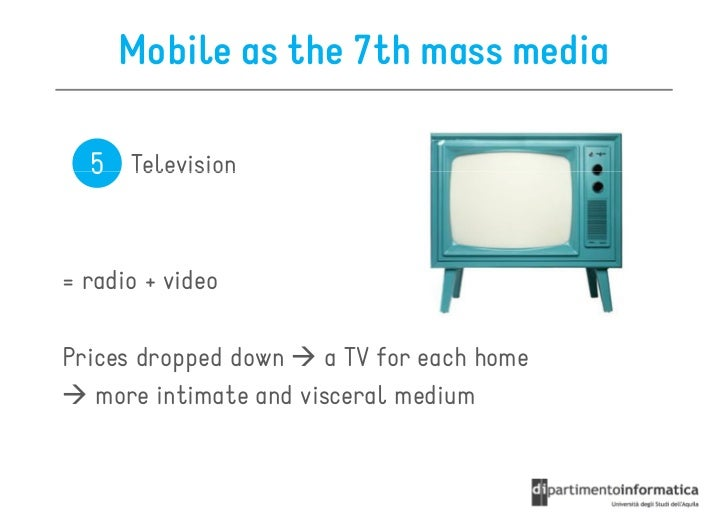 mass media tv and radio A free, interactive mass media course film, radio and tv - 23 television -- the beginning another famous utterance that was soon regretted.