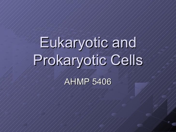 Eukaryotic andProkaryotic Cells    AHMP 5406