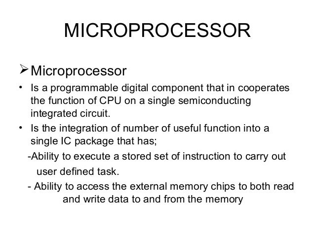 Basics of  micro controllers for biginners Slide 3