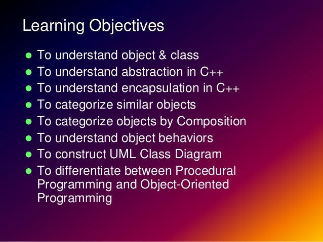 Lecture01 object oriented-programming