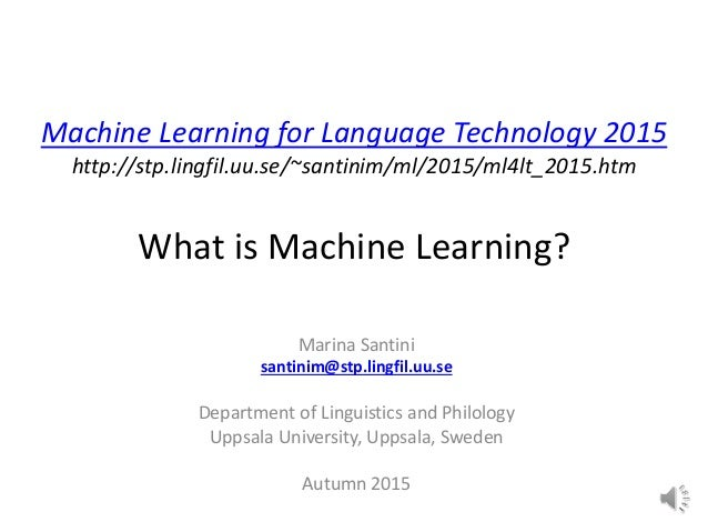 Lecture 1 What Is Machine Learning