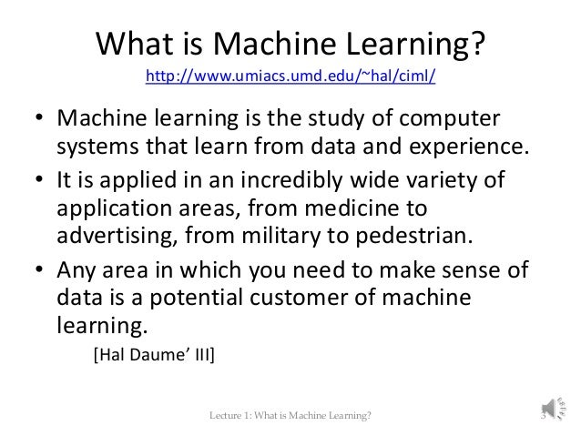 is machine learning