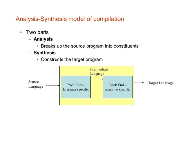 Lecture 01 introduction to compiler