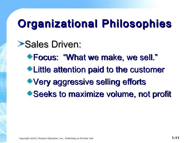 Marketing philosphy and strategy