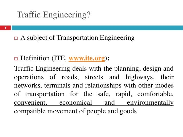 Lecture 01 Introduction Traffic Engineering Dr Usama