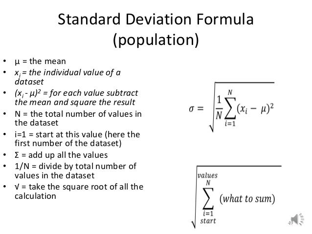 Lecture 2 preliminaries understanding and preprocessing data standard deviation formula ccuart Images