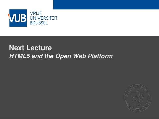 Web Architectures - Web Technologies (1019888BNR)