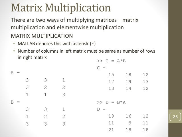 Matlab arrays and matrices for Table 2 matrix matlab