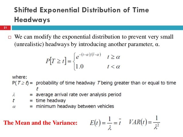 Lecture 02 Traffic Flow Characteristics (Traffic Engineering