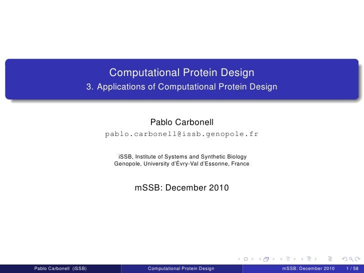 Computational Protein Design                     3. Applications of Computational Protein Design                          ...