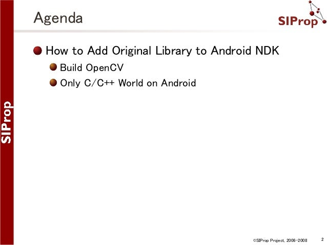 How to Add Original Library to Android NDK