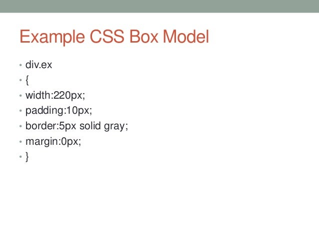 Lecture 03 html css part 2 - Css div border ...