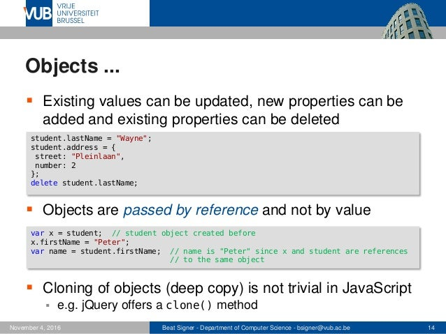 JavaScript and jQuery - Web Technologies (1019888BNR)