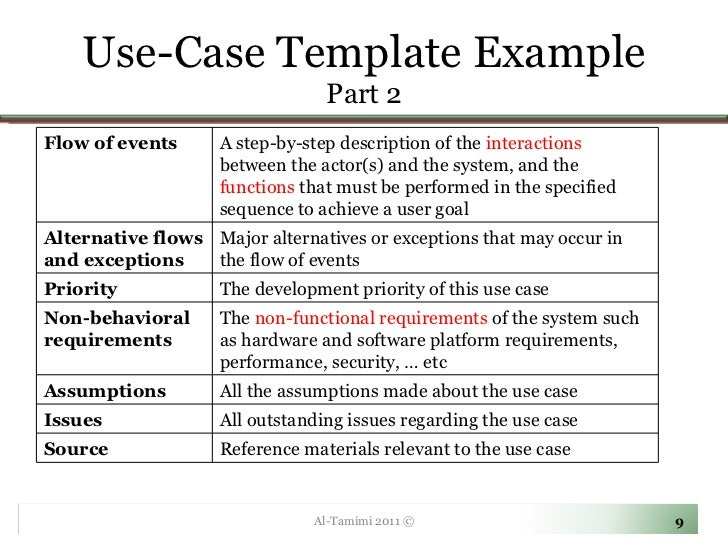 Use Case Template ...