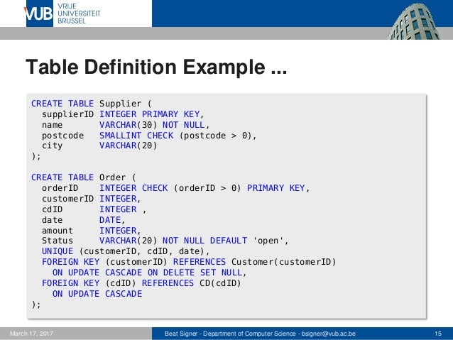 ... 15.  sc 1 st  SlideShare & Structured Query Language (SQL) - Lecture 5 - Introduction to Databas\u2026