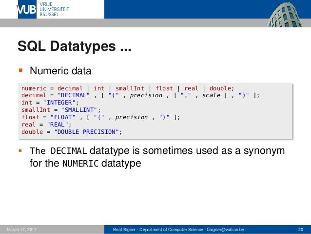 Structured Query Language (SQL) - Lecture 5 - Introduction to Databas…