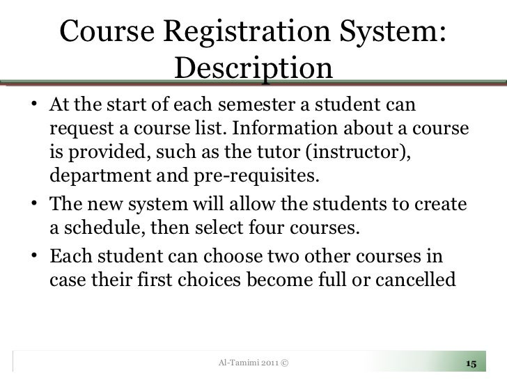 purpose and description of enrolment system Enrollment system is one of the most important and evident, not only in a  university, but also in lower levels of education  the purpose of an enrollment  process is to provide a means for staffs and  definition of terms.