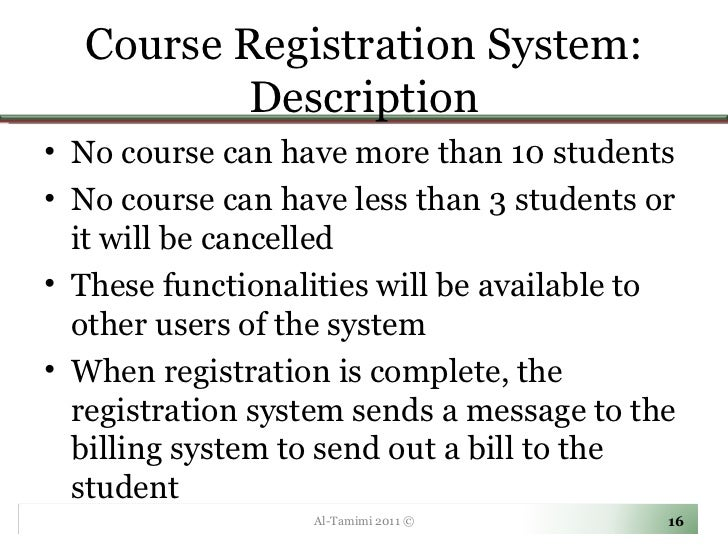 Summary of student registration system